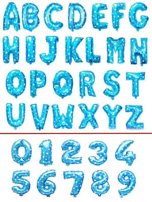 Narozeninové dekorační balónky - číslice a písmena
