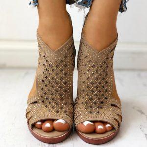 Dámské letní sandály na vysokém podpatku