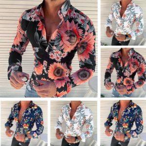 Pánská letní květinová košile