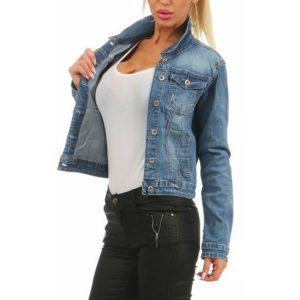 Dámská trendy riflová bunda do pasu Victoria