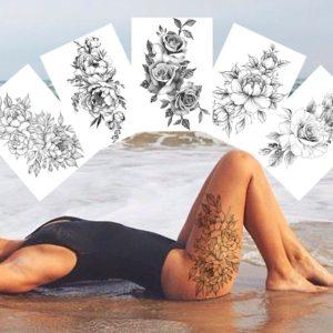 Dámské sexy falešné tetování na tělo