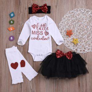 Valentýnský dětský set oblečení