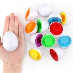 Dětské vzdělávací skládačky ve tvaru vajíčka