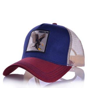 Módní unisex baseballová kšiltovka s nášivkou orla