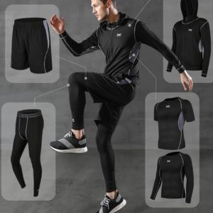 Pánská fitness 5dílná kompresní stylová souprava