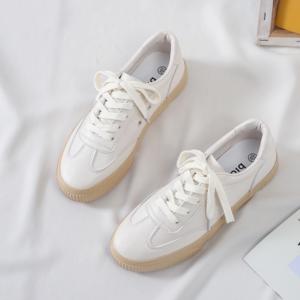 Dámské koženkové bílé tenisky