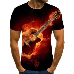 Pánské triko s hudebním motivem a krátkým rukávem